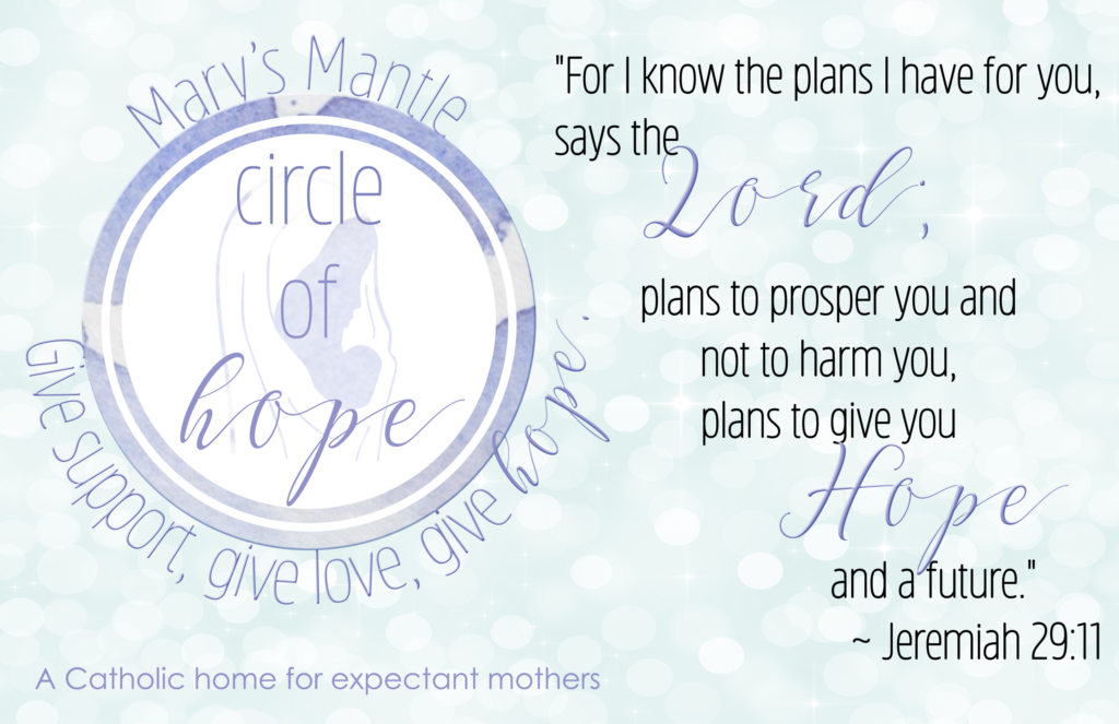 Circle of Hope descriptive text on a pastel background